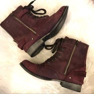 Dolce Vita Plum Colored Leather Boots - Size 7